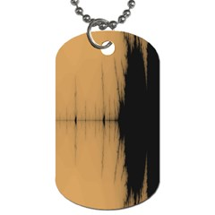 Sunset Black Dog Tag (Two Sides)