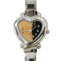 Sunset Black Heart Italian Charm Watch