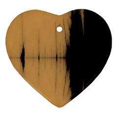 Sunset Black Heart Ornament (2 Sides)