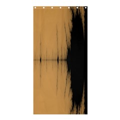 Sunset Black Shower Curtain 36  X 72  (stall)