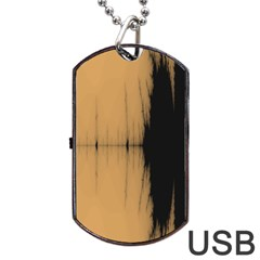 Sunset Black Dog Tag USB Flash (Two Sides)