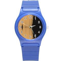 Sunset Black Round Plastic Sport Watch (s)