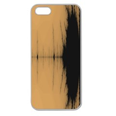 Sunset Black Apple Seamless Iphone 5 Case (clear)