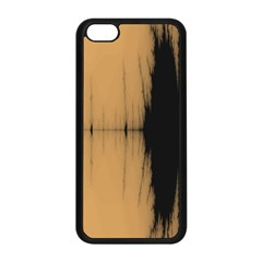 Sunset Black Apple Iphone 5c Seamless Case (black)