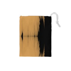 Sunset Black Drawstring Pouches (Small)