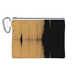 Sunset Black Canvas Cosmetic Bag (l)