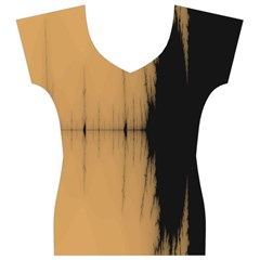 Sunset Black Women s V-Neck Cap Sleeve Top