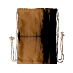 Sunset Black Drawstring Bag (Small)