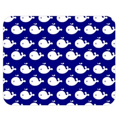 Cute Whale Illustration Pattern Double Sided Flano Blanket (Medium)