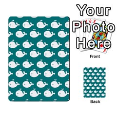 Cute Whale Illustration Pattern Multi-purpose Cards (Rectangle)