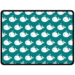 Cute Whale Illustration Pattern Fleece Blanket (large)