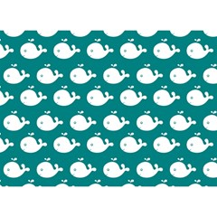 Cute Whale Illustration Pattern Birthday Cake 3D Greeting Card (7x5)