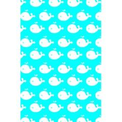 Cute Whale Illustration Pattern 5.5  x 8.5  Notebooks