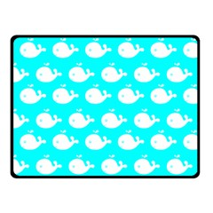 Cute Whale Illustration Pattern Fleece Blanket (Small)