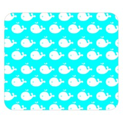 Cute Whale Illustration Pattern Double Sided Flano Blanket (Small)