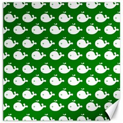 Cute Whale Illustration Pattern Canvas 16  X 16