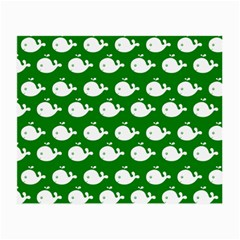 Cute Whale Illustration Pattern Small Glasses Cloth (2 Side)