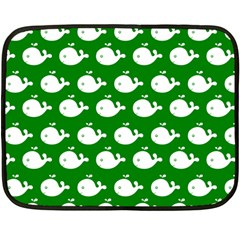 Cute Whale Illustration Pattern Fleece Blanket (Mini)