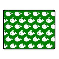 Cute Whale Illustration Pattern Fleece Blanket (Small)