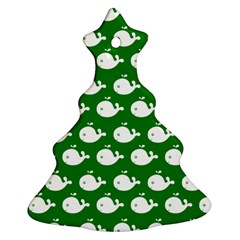 Cute Whale Illustration Pattern Christmas Tree Ornament (2 Sides)