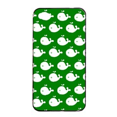 Cute Whale Illustration Pattern Apple iPhone 4/4s Seamless Case (Black)