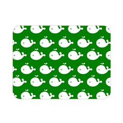 Cute Whale Illustration Pattern Double Sided Flano Blanket (Mini)