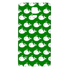 Cute Whale Illustration Pattern Galaxy Note 4 Back Case