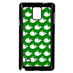 Cute Whale Illustration Pattern Samsung Galaxy Note 4 Case (Black)