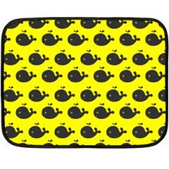 Cute Whale Illustration Pattern Fleece Blanket (Mini)