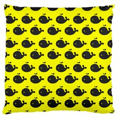 Cute Whale Illustration Pattern Standard Flano Cushion Cases (One Side)