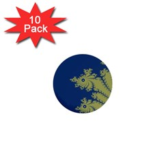 Blue and Green Design 1  Mini Buttons (10 pack)