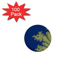 Blue and Green Design 1  Mini Buttons (100 pack)