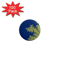 Blue And Green Design 1  Mini Magnets (100 Pack)