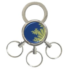 Blue and Green Design 3-Ring Key Chains