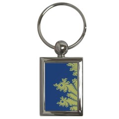Blue and Green Design Key Chains (Rectangle)