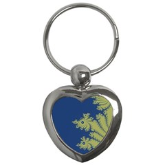 Blue And Green Design Key Chains (heart)