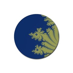 Blue And Green Design Rubber Coaster (round)