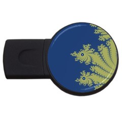 Blue and Green Design USB Flash Drive Round (2 GB)