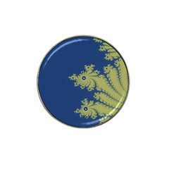 Blue and Green Design Hat Clip Ball Marker (4 pack)
