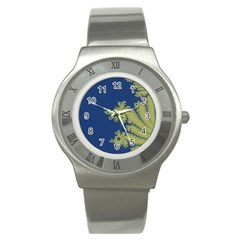 Blue And Green Design Stainless Steel Watches
