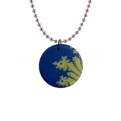 Blue and Green Design Button Necklaces