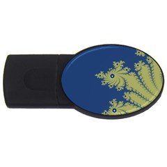 Blue and Green Design USB Flash Drive Oval (4 GB)
