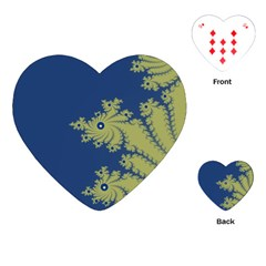 Blue and Green Design Playing Cards (Heart)