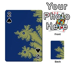Blue and Green Design Playing Cards 54 Designs