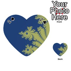 Blue And Green Design Playing Cards 54 (heart)