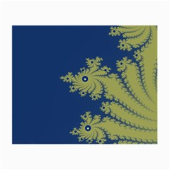 Blue And Green Design Small Glasses Cloth (2 Side)