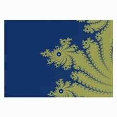 Blue And Green Design Large Glasses Cloth