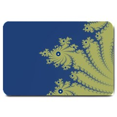 Blue And Green Design Large Doormat