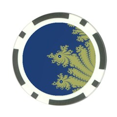 Blue And Green Design Poker Chip Card Guards