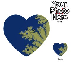 Blue and Green Design Multi-purpose Cards (Heart)